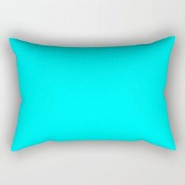 Electric Cyan - solid color Rectangular Pillow