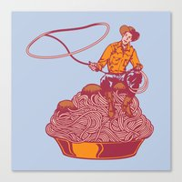 western Canvas Prints featuring Spaghetti Western by Tom Burns