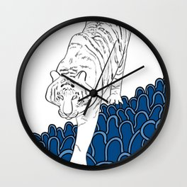 Korea surf art series_ guardian of the sea Wall Clock