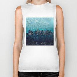 boston city skyline Biker Tank
