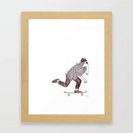 skatebearding (regular) Framed Art Print