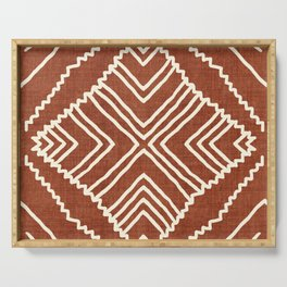 Beni in Rust Serving Tray