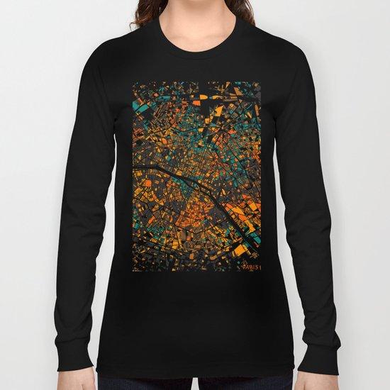 Paris mosaic map #3 Long Sleeve T-shirt