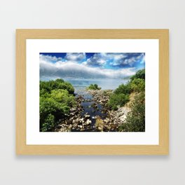 On the way to Kotor.. Framed Art Print