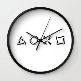 Playstation Symbols - Impossible Geometry - Horizontal Wall Clock