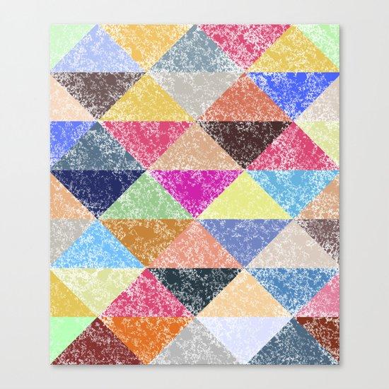 Color texture, Geometric background #2 Canvas Print