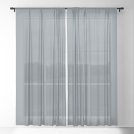 Whirling Mid Tone Blue Grey Solid Color Pairs To Sherwin Williams Storm Cloud SW 6249 Sheer Curtain