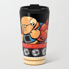 Megaman vs Dick Cheney Metal Travel Mug