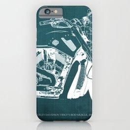 2011 HD VRSCF V-Rod Muscle green blueprint iPhone Case