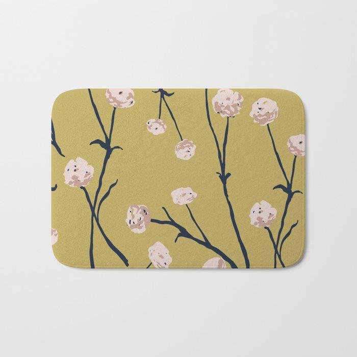 Dandelions on Ochre Bath Mat