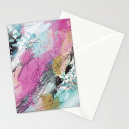 Colorful Abstract Art Original Art Stationery Cards