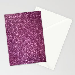 Pink Lavender Glitter with Silvery Highlights Stationery Cards