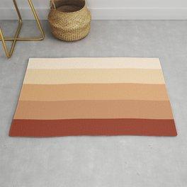 Burnt Orange Rainbow - Warm Red Gradient by Design by Cheyney Rug