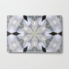 White Arctic Queen Kaleidoscope Metal Print