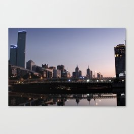 Melbourne City Sunrise Canvas Print