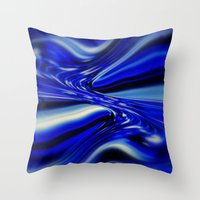 code Throw Pillows featuring Code Blue by Chris' Landscape Images & Designs