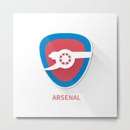 Arsenal Smooth Logo Metal Print