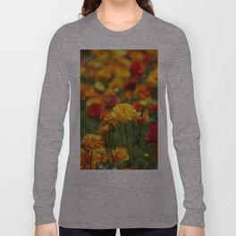 Yellow and orange ranunculus flower Long Sleeve T-shirt