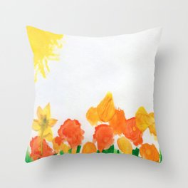Watercolor Floral Series B Throw Pillow
