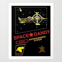 space dandy Art Prints featuring NES Space Dandy by IF ONLY