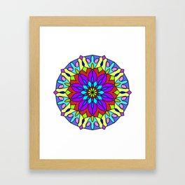 tibetan colorful mandala Framed Art Print