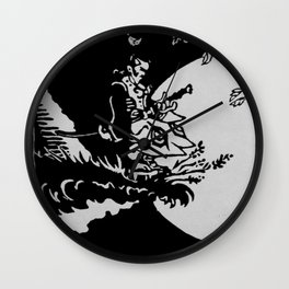 The Samurai and the Leaf Wall Clock