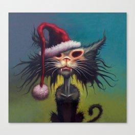 Zombie Cat Christmas Canvas Print