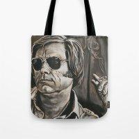 phil jones Tote Bags featuring Jones by Buddy Owens Paintings