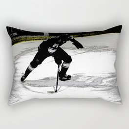 On the Move - Hockey Player Rectangular Pillow