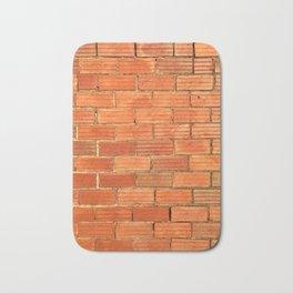 Vintage brick building Bath Mat