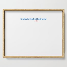 Happy Graduate Student Instructor Serving Tray