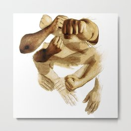 Fist of Sand Metal Print