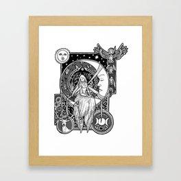 Girl in the Moon Framed Art Print