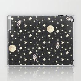 Space - Stars Moon and Astronauts on black Laptop & iPad Skin