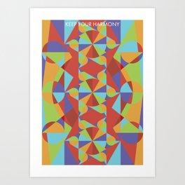 Color Confluence I Art Print