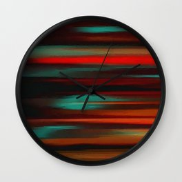 Abstract intense, black red Wall Clock