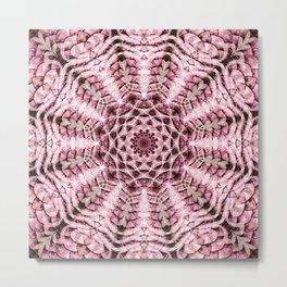 Pink Scale Mandala Metal Print