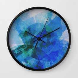 Precipice in Blue XXI Wall Clock