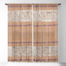 Tapis Lampong South Sumatra Indonesian Wrap for Woman Print Sheer Curtain