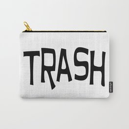 Trash print black Carry-All Pouch