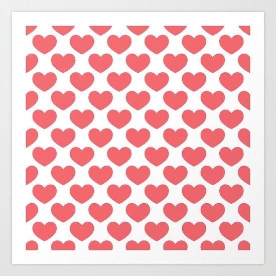 Big old hearts Art Print