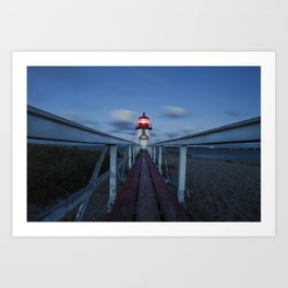 Brant Point Lighthouse at Night Art Print