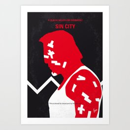 No304 My SIN CITY mmp Art Print