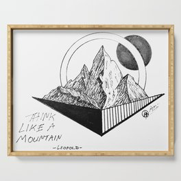 """""""Think, Leopold"""" by Dark Mountain Serving Tray"""