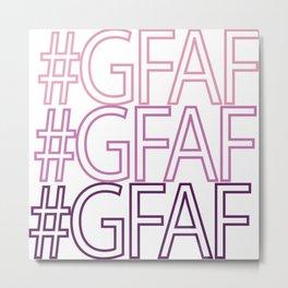 Gluten Free #GFAF Metal Print