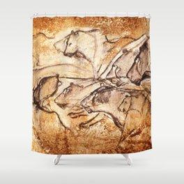 Panel of Lions // Chauvet Cave Shower Curtain