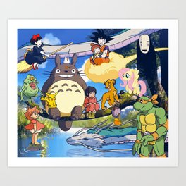 Friends in a Tree Art Print