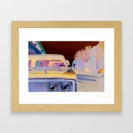 New York car Framed Art Print