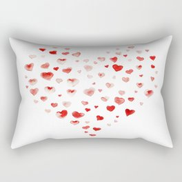 LOVE you! Watercolor Hearts. Valentine's Day Card Rectangular Pillow