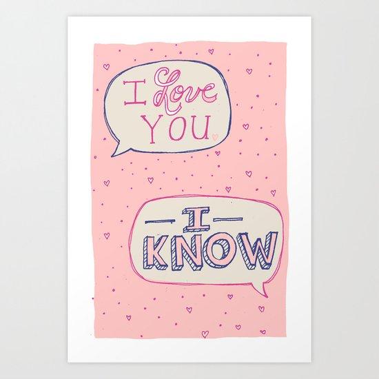Conceited Valentine Art Print